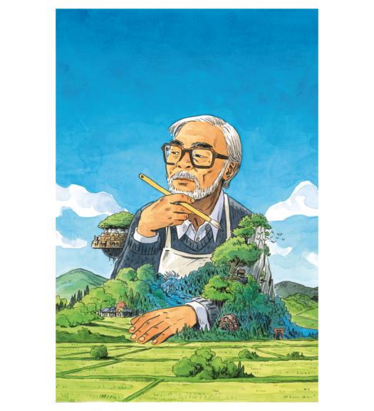 Affiche Miyazaki par Atelier Sentô