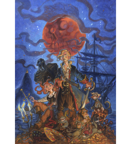 Monkey Island Art Print by Steve Purcell